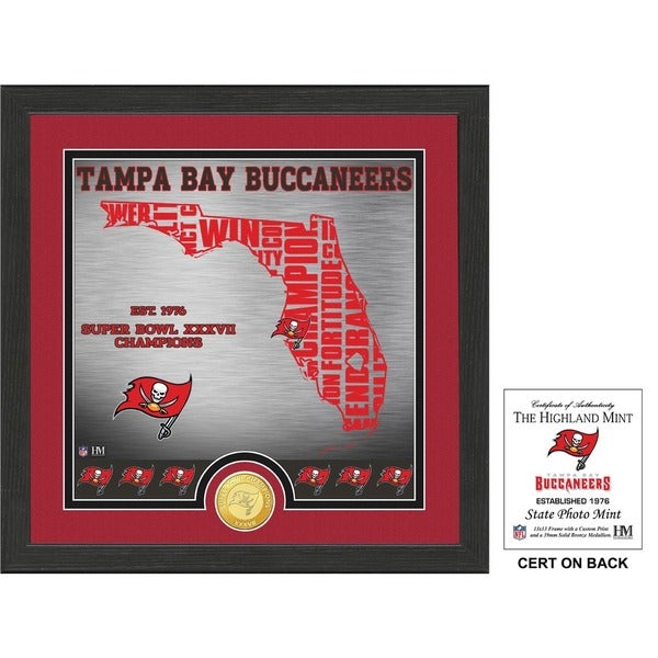 """Tampa Bay Buccaneers """"State"""" Bronze Coin Photo Mint"""