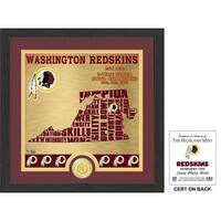 "Washington Redskins ""State"" Bronze Coin Photo Mint"