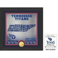 "Tennessee Titans ""State"" Bronze Coin Photo Mint"