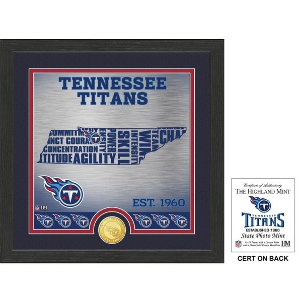 """Tennessee Titans """"State"""" Bronze Coin Photo Mint"""