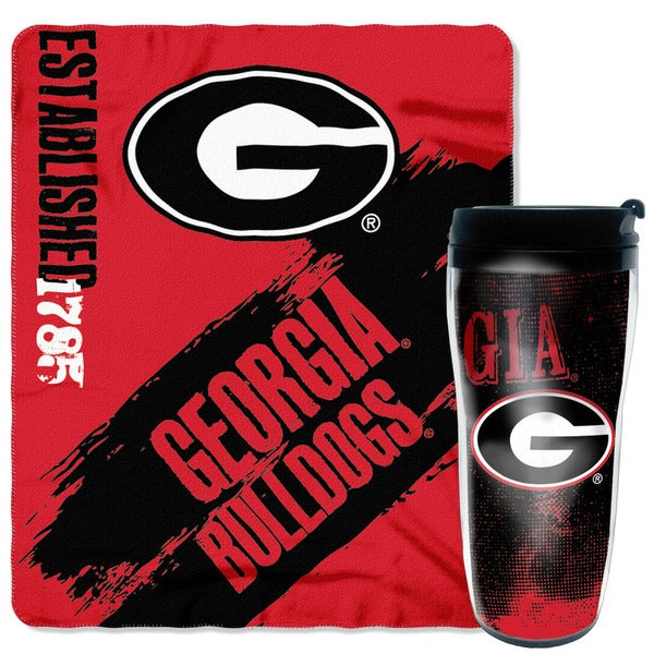 Black/Red Georgia Bulldogs Mug N Snug Set