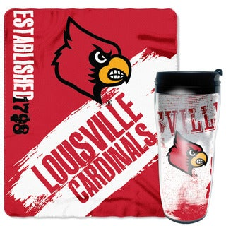 The Northwest Company COL 229 Louisville Cardinals Mug N Snug Set