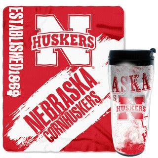 The Northwest Company COL 229 Nebraska Cornhuskers Mug N Snug Set