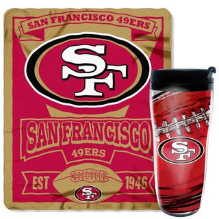 NFL 49ers Mug n Snug Travel and Fleece Throw Set