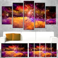 Universe Fractal Burst - Abstract Large Abstract Art Canvas Print