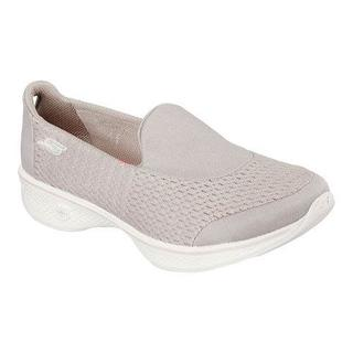 Women's Skechers GOwalk 4 Pursuit Slip On Walking Shoe Charcoal