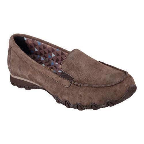 Skechers Relaxed Fit Biker Roamer Women's Brown Leather / Suede Shoes Size 6.5