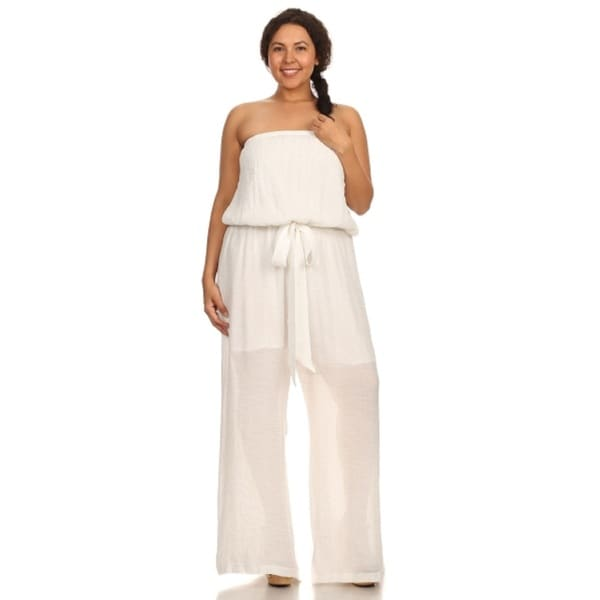 Shop Hadari Women Plus Size Strapless Jumpsuit Ships To Canada