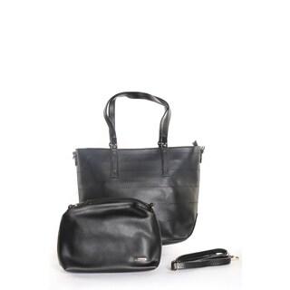 Hadari Women Tote Bag With Maching Make-Up Beg in side (2 Pice Set)
