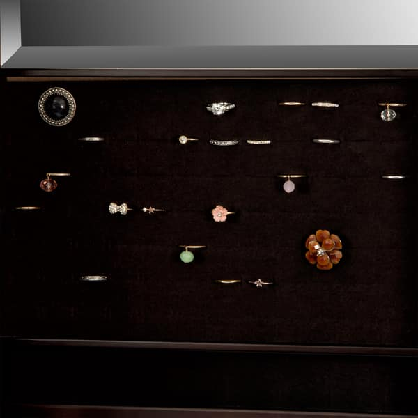 Shop Mele Co Verona Mirrored Jewelry Armoire In Java