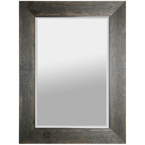 Shop Hobbitholeco 34x46 Black Hand Stained Beveled Mirror