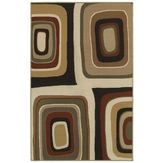 Orgainic Bold Brown/Ivory Rug (4'4 x 6'9)