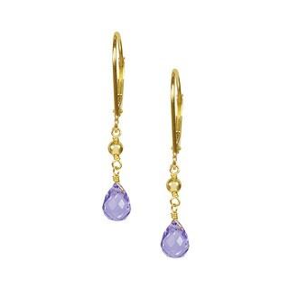 14k Yellow Gold Amethyst Brio Earrings
