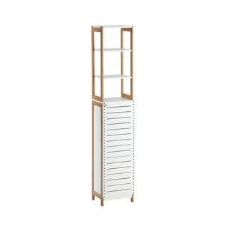 Rendition White MDF/Metal High Cabinet
