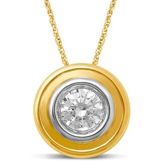 Unending Love 14k Yellow Gold 1/3ct TDW Diamond Stud Pendant