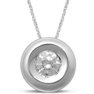 Unending Love 14k White Gold 1/4ct TDW Diamond Stud Pendant (I-J, I1-I2)