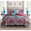 VCNY Casa Re'al Reversible 5-Piece Comforter Set