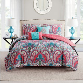 Porch & Den West Bench Lancelot Reversible 5-piece Duvet Cover Set