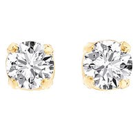 Divina 1/5 ct. Yellow Gold __ct TDW Round-cut Diamond Solitaire Stud Earrings