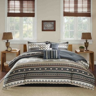 Madison Park Davy Black 7-piece Comforter Set