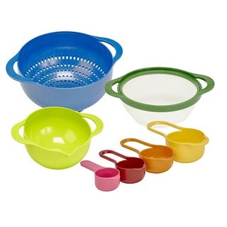 Kitchen Details 7-piece Nested Mixing Bowls and Measuring Cups Set