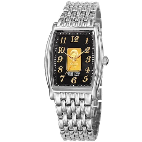 August Steiner Women's Quartz Gold Luxury Silver-Tone Bracelet Watch