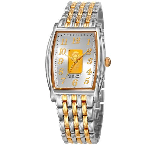 August Steiner Women's Quartz Gold Luxury Two-Tone Bracelet Watch