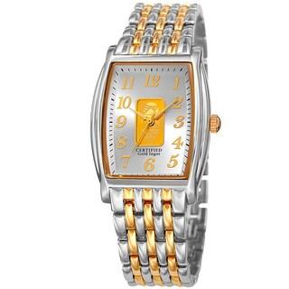 August Steiner Women's Quartz Gold Luxury Two-Tone Bracelet Watch