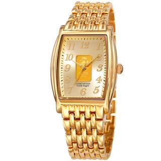 August Steiner Women's Quartz Gold Luxury Gold-Tone Bracelet Watch