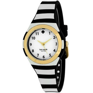 Kate Spade Women's 1YRU0749 Rumsey Round Cream dial Plastic strap Watch