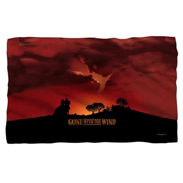 Gone With The Wind/Sunset Fleece Blanket in White