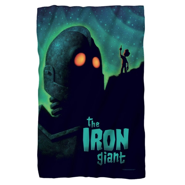 Iron Giant/Look To The Stars Fleece Blanket in White