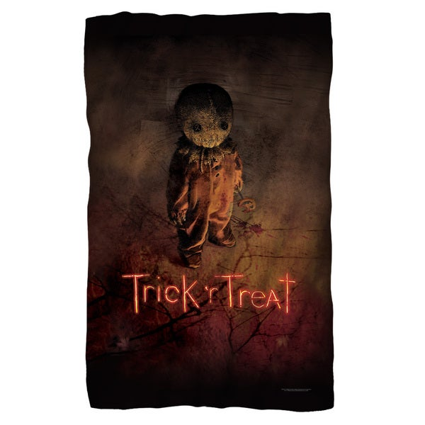 Trick R Treat/Poster Fleece Blanket in White