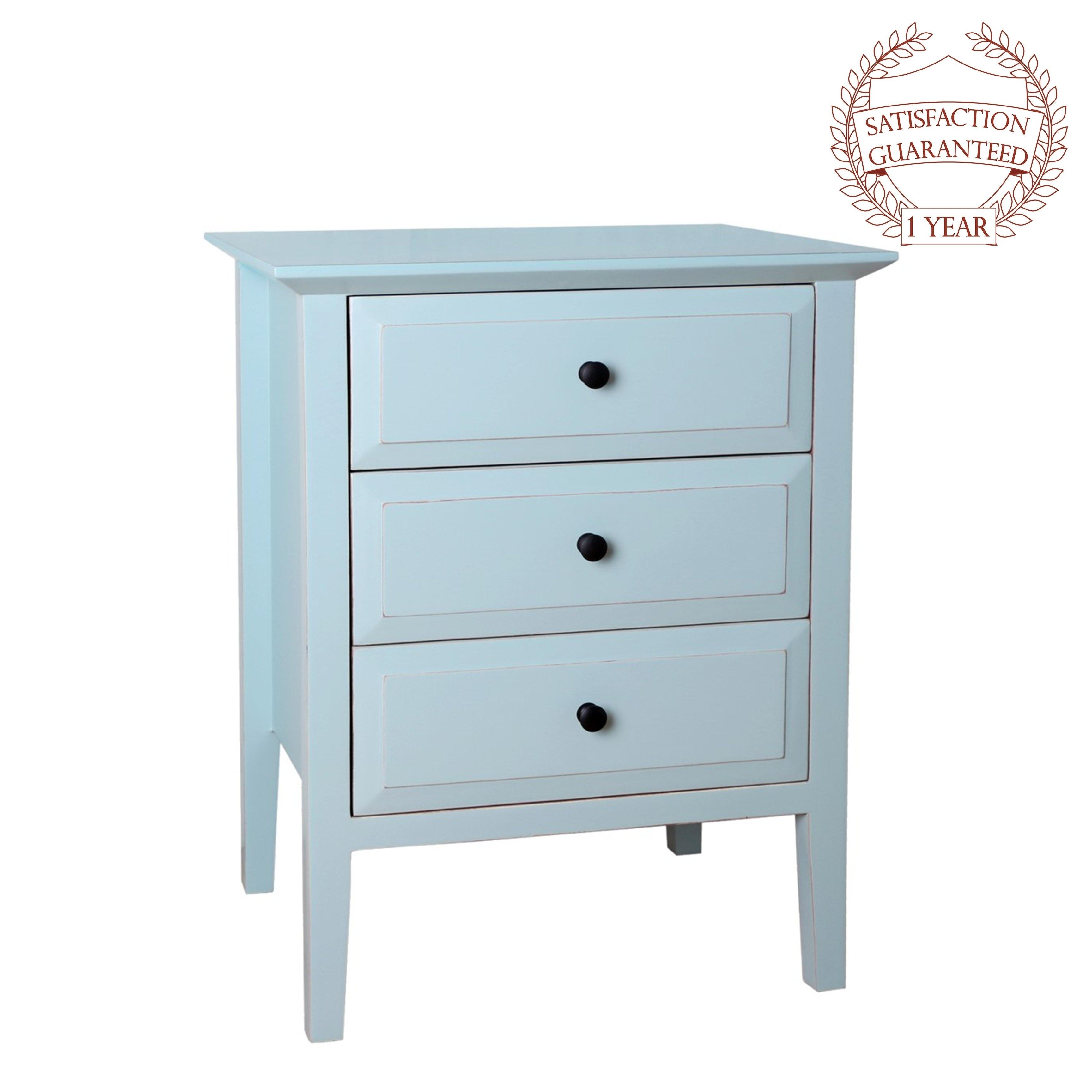 buy popular 44760 ccd3f Porthos Home Gardenia 3-Drawer Side Table