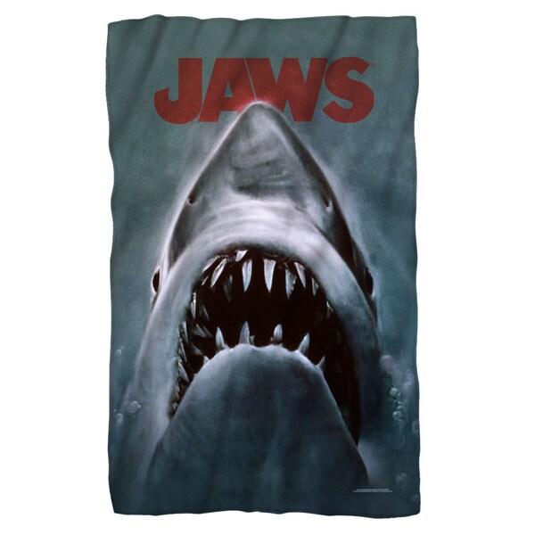 Jaws/Shark Fleece Blanket in White