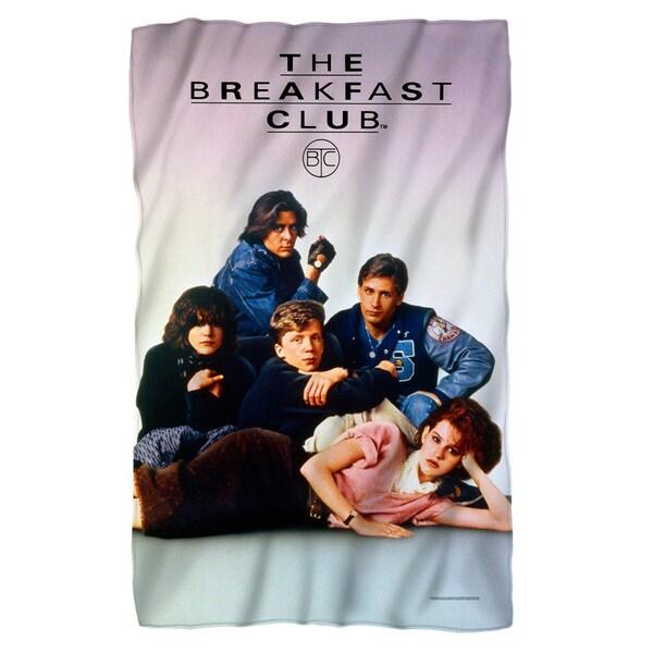 Breakfast Club/Poster Fleece Blanket in White