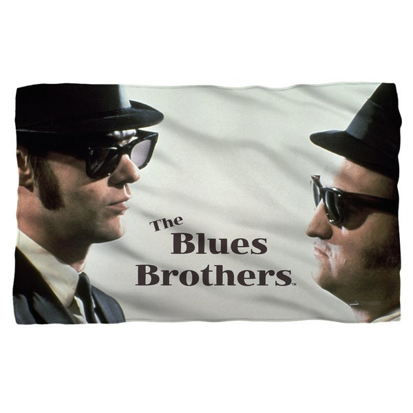 Blues Brothers/Brothers Fleece Blanket in White