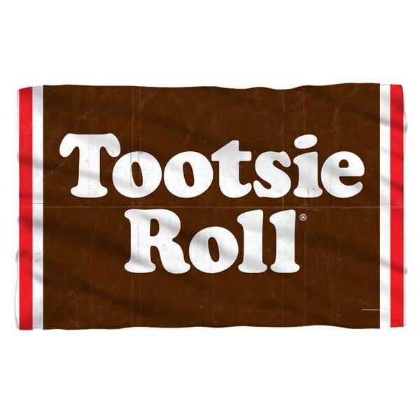 Tootsie Roll/Wrapper Fleece Blanket in White