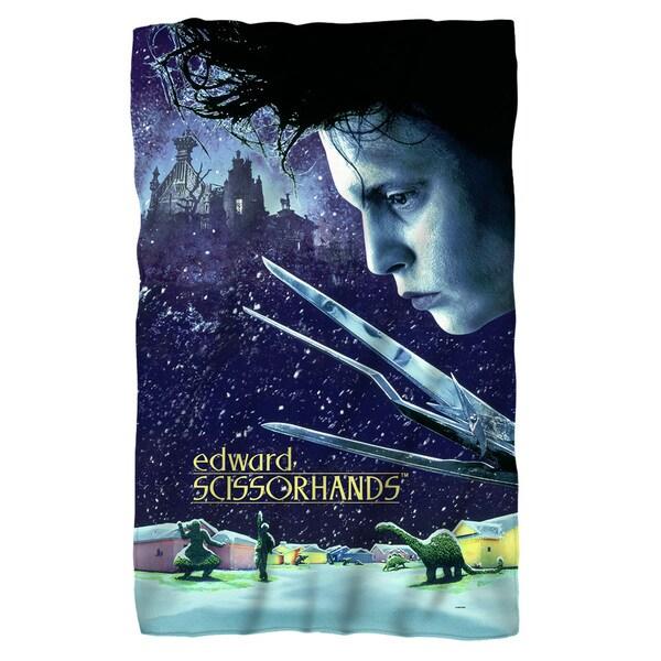 Edward Scissorhands/Movie Poster Fleece Blanket in White