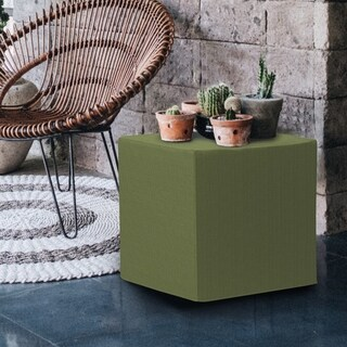 Seascape Moss Green Acrylic/Foam No Tip Block Ottoman