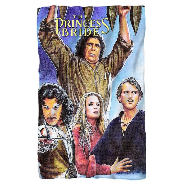 Princess Bride/Alt Poster Fleece Blanket in White