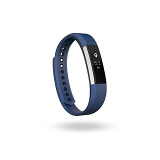 Fitbit Alta Fitness Tracker, Blue/Silver, Large