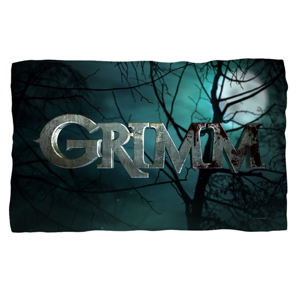 Grimm/Logo Fleece Blanket in White