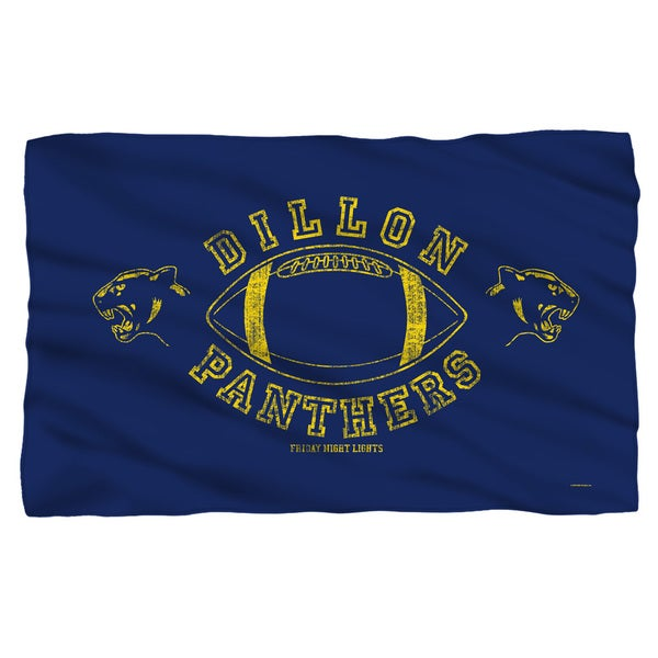 Friday Night Lights/Dillon Panthers Fleece Blanket in White