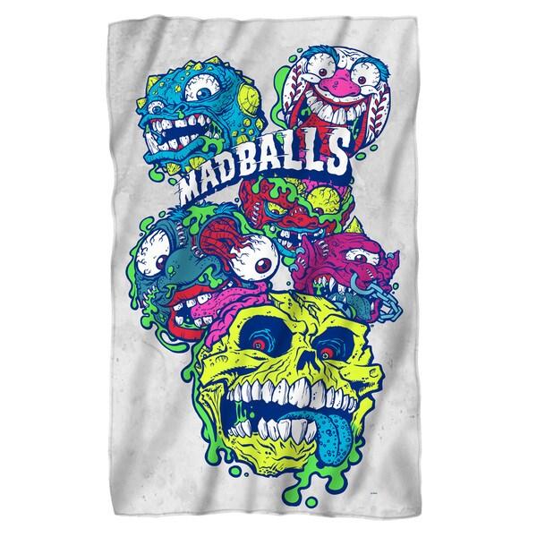 Madballs/Squished Fleece Blanket in White