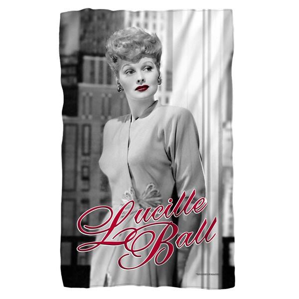 Lucille Ball/City Girl Fleece Blanket in White