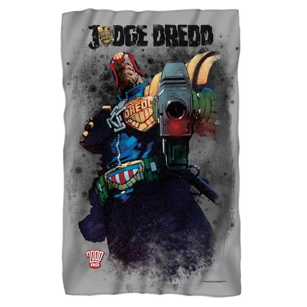 Judge Dredd/Last Words Fleece Blanket in White