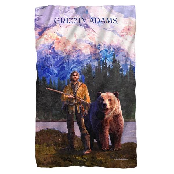 Grizzly Adams/Wilderness Fleece Blanket in White