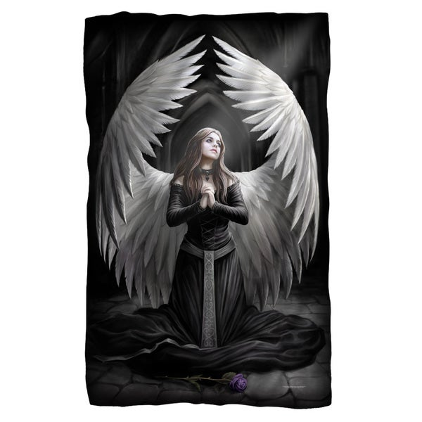 Anne Stokes/Prayer For The Fallen Fleece Blanket in White