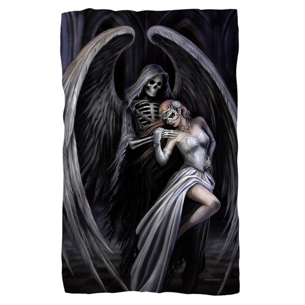 Anne Stokes/Dance With Death Fleece Blanket in White